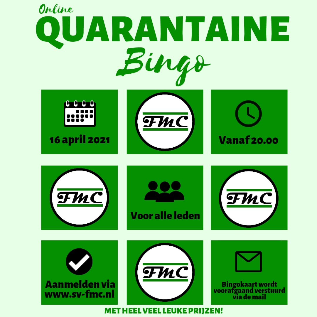 Online Borrel: QUARANTAINE BINGO